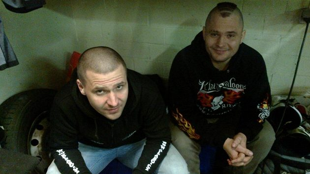Vpředu Jan Klatovský, za ním jeho bratr Antonín.