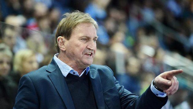 Trenér Komety Alois Hadamczik při utkání v Liberci.