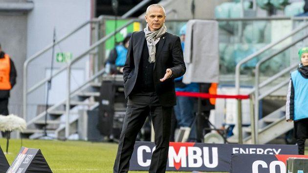 Trenér Slasku Wroclaw Vítězslav Lavička.