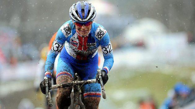 Česká reprezentantka Kateřina Nash na mistrovství světa v cyklokrosu v Táboře.