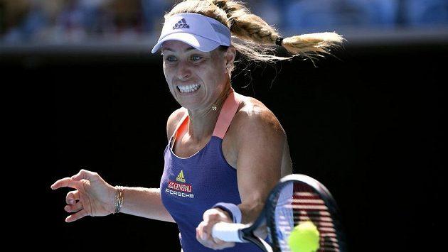 Německá tenistka Angelique Kerberová v zápase třetího kola Australian Open.