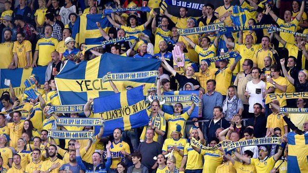Fanoušci Švédska.