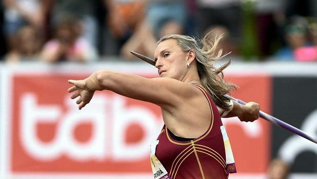 Oštěpařka Barbora Špotáková při mistrovství ČR v Táboře.