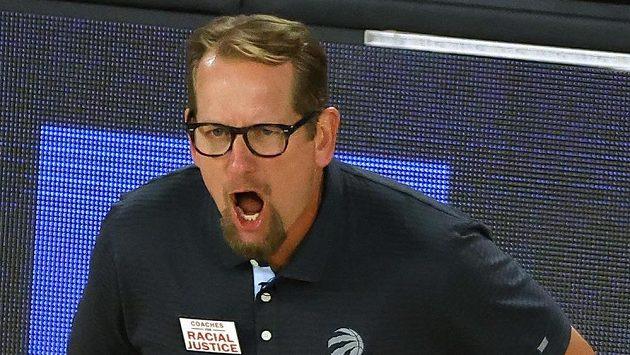 Trenér Toronta Raptors Nick Nurse.