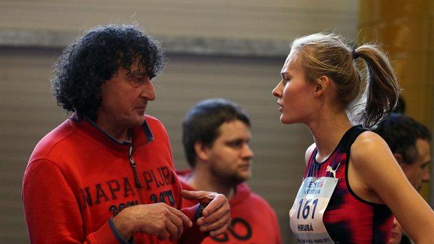 Výškařka Michaela Hrubá se svým novým koučem Michalem Pogánym.