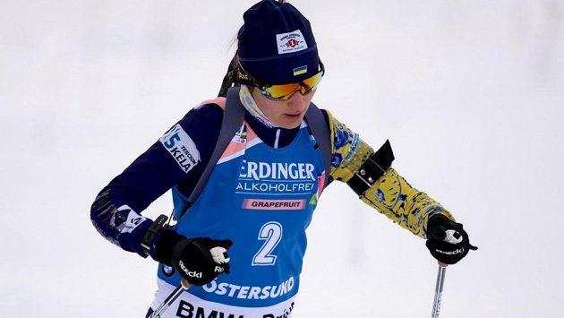 Ukrajinská biatlonistka Julia Žuravoková na loňském MS v Östersundu.