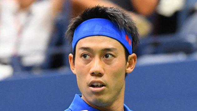 Japonský tenista Kei Nišikori ve čtvrtfinále US Open.