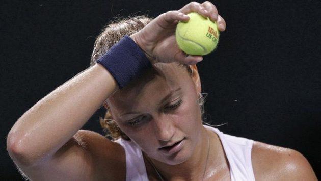 České tenistce Petře Kvitové to na asijském turné moc nejde