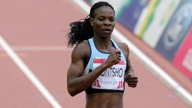 Bývalá mistryně světa v běhu na 400 metrů Amantle Montshová z Botswany.