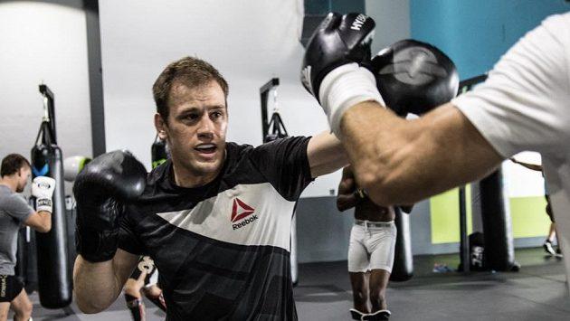 Viktor Pešta v tréninku.