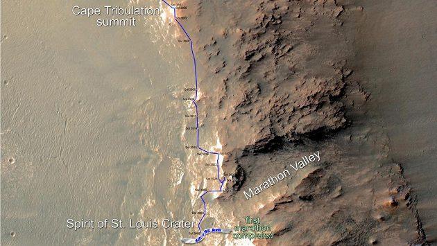 Takto vypadá první maratónská trasa mimo planetu Zemi.