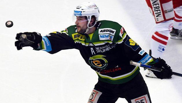 Karlovarský útočník Michal Vachovec vstřelil vítězný gól v zápase s Brnem.