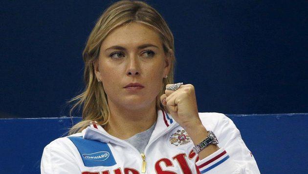 Maria Šarapovová držela o víkendu palce svým krajankám ve fedcupové bitvě s Nizozemskem. Marně.