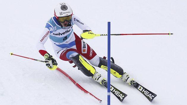 Švýcarka Wendy Holdenerová na trati v Lenzerheide.
