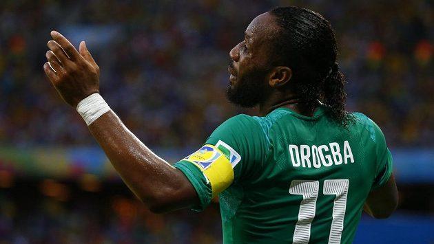 Didier Drogba v dresu Pobřeží slonoviny na nedávném MS v utkání s Řeckem.