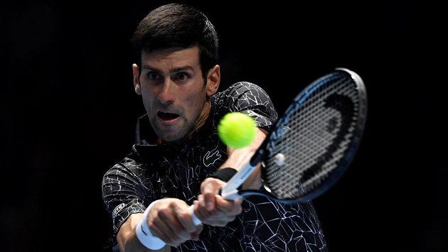 Světová tenisová jedničkaNovakDjokovič na Turnaji mistrů v Londýně.