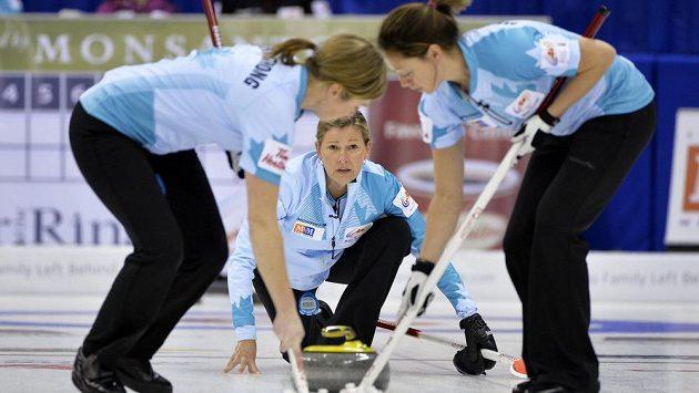 Curling ženy - ilustrační fotografie.