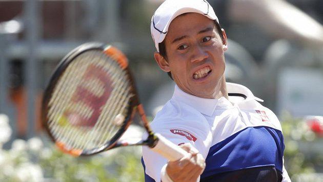 Japonec Kei Nišikori vystavil na turnaji v Římě stop českému tenistovi Jiřímu Veselému.