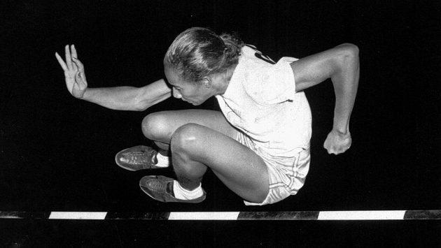 Alice Coachmanová Davisová na snímku z Grand Rapids z července 1948, krátce před tím, než se stala olympijskou vítězkou.