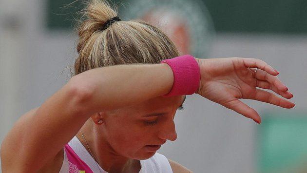 Petra Kvitová během semifinále French Open.