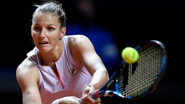 Karolína Plíšková v osmifinále turnaje ve Stuttgartu.
