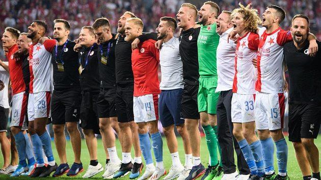 Slávisté slaví postup do Ligy mistrů.