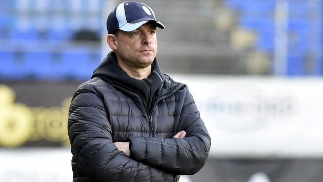 Trenér Mladé Boleslavi Martin Svědík.