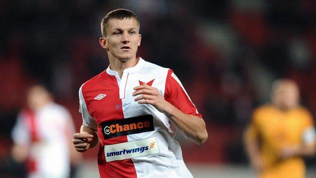 Slávistický střelec Tomáš Necid.
