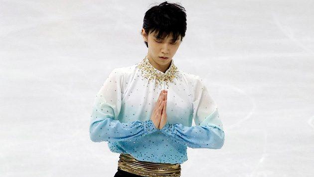 Dvojnásobný olympijský šampion Juzuru Hanju předvedl na mistrovství čtyř kontinentů rekordní krátký program.