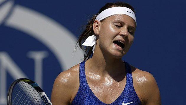 Česká tenistka Lucie Šafářová porazila v prvním kole US Open Maďarku Timeu Babosovou.