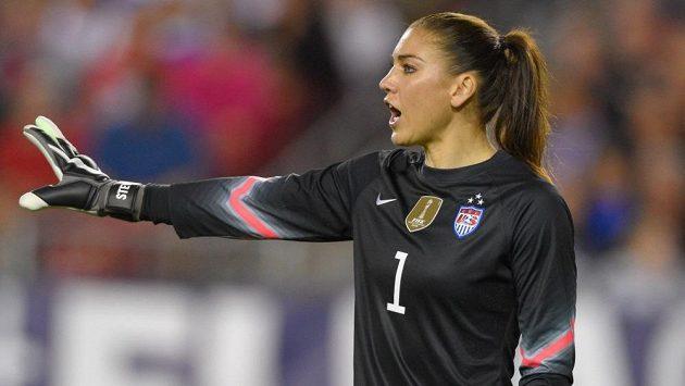 Brankářka amerického národního fotbalového týmu Hope Solová.