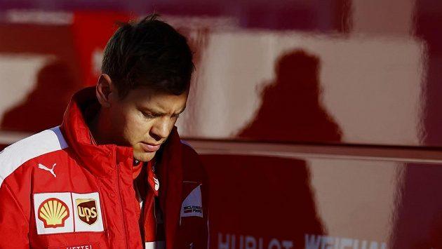 Sebastian Vettel při testech v Jerezu.
