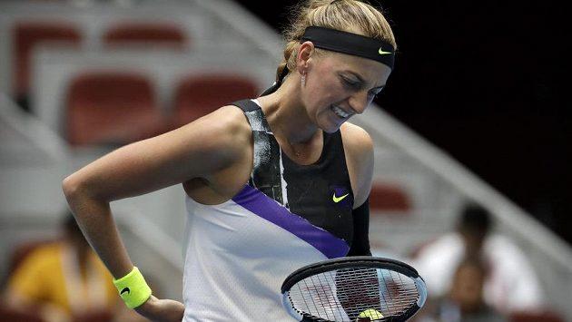 Sestřih čtvrtfinále Kvitová - Bartyová na turnaji v Pekingu.