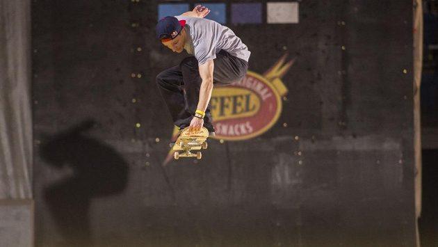 Skateboardista Maxim Habanec v akci.