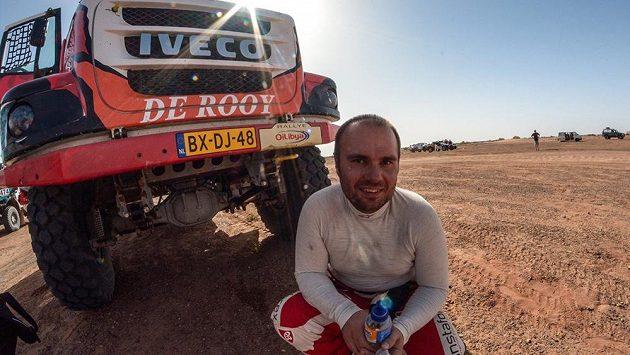 Aleš Loprais se svým novým vozem na Rally Oil Libya.