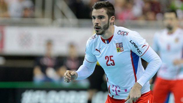 Tom Ondrušek, autor dvou gólů do lotyšské sítě.
