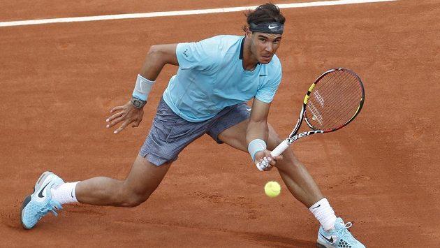 Rafael Nadal v souboji s Rakušanem Dominikem Thiemem.