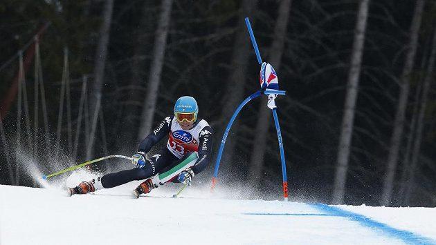 Italský lyžař Christof Innerhofer.