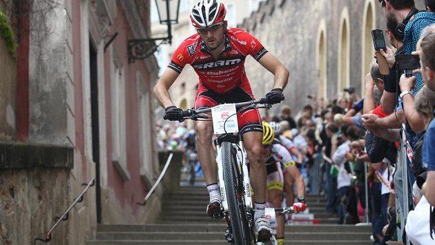 Český cyklista Jan Škarnitzl, ilustrační foto.