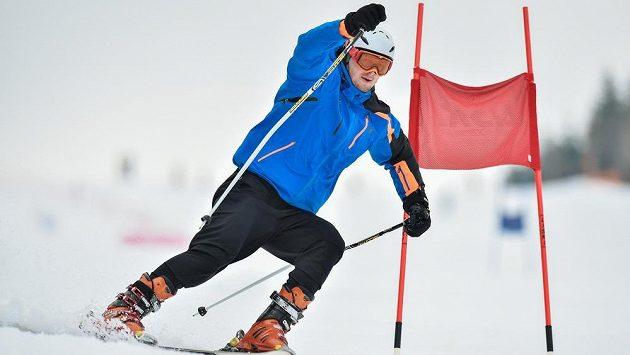 Judista Lukáš Krpálek při exhibičním závodě v obřím slalomu ČEZ KSN Cup.