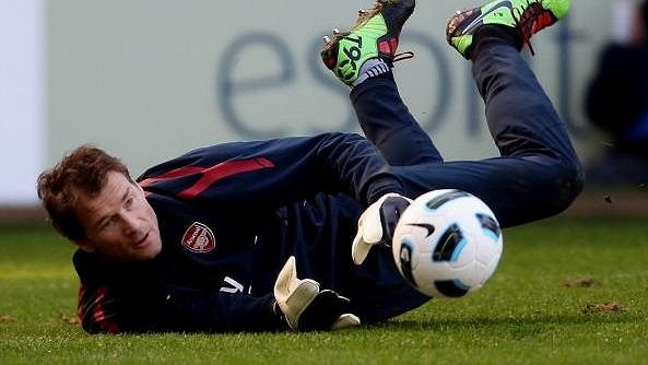 Jens Lehmann v dresu Arsenalu - archivní snímek.