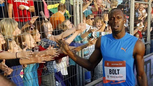 Usain Bolt se letos s diváky během Zlaté tretry nepozdraví.