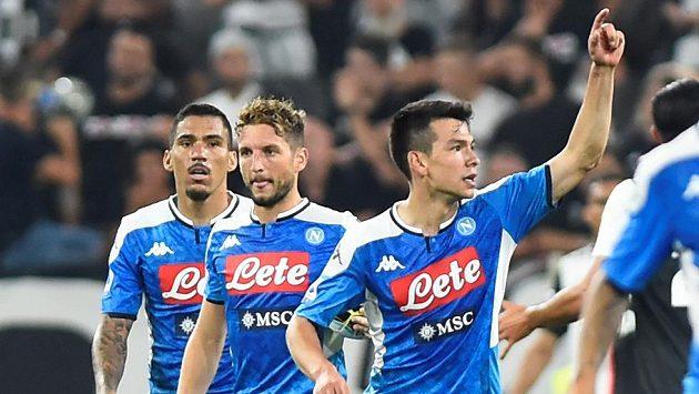 Fotbalisté SSC Neapol během zápasu na hřišti Juventusu (ilustrační foto).