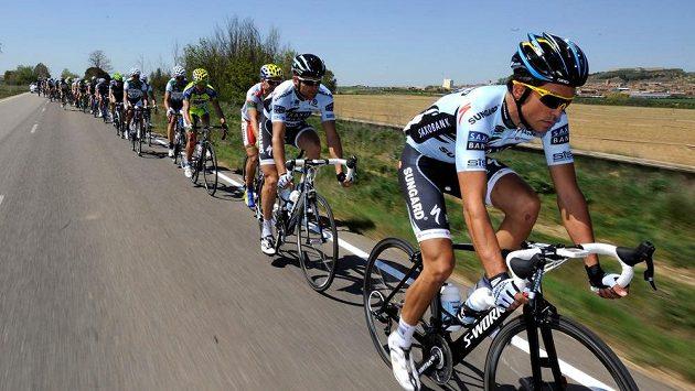 Alberto Contador při Vueltě.