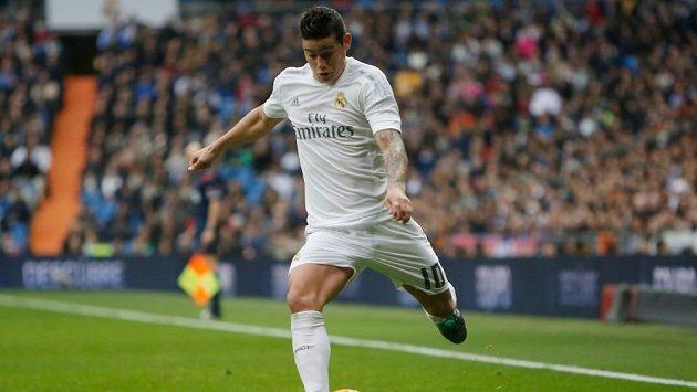 Kolumbijský útočník James Rodríguez při zápase Realu Madrid.