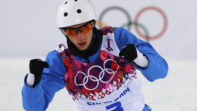 Radost Antona Kušnira, olympijského vítěze v akrobatických skocích na lyžích.