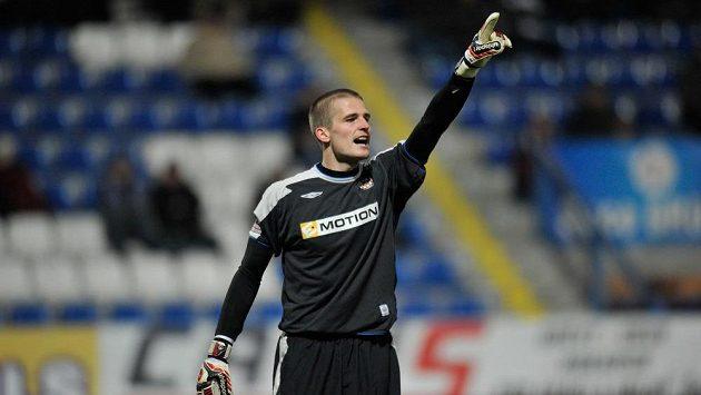 Brankář Zbrojovky Václav Hladký vzal inkasovaný gól v Liberci na sebe.