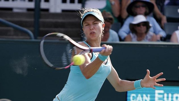 Kanaďanka Eugenie Bouchardová na turnaji v Charlestonu, kde v roli nasazené jedničky prohrála hned svůj první zápas.