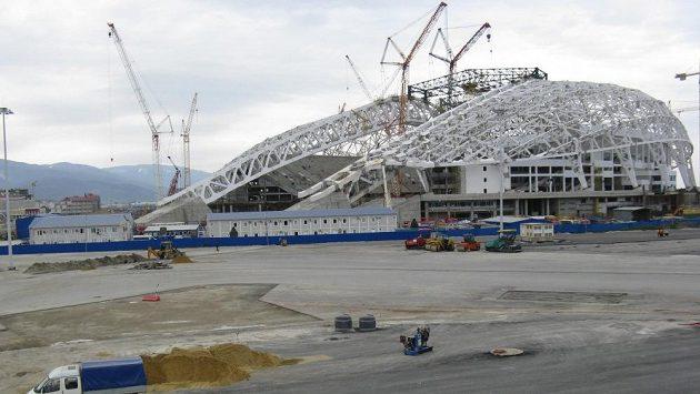 Olympijský stadión Fišt v Soči, kde proběhne slavnostní zahájení a zakončení ZOH.
