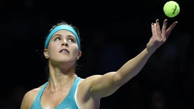 Kanadská tenistka Eugenie Bouchardová na Turnaji mistryň v Singapuru.